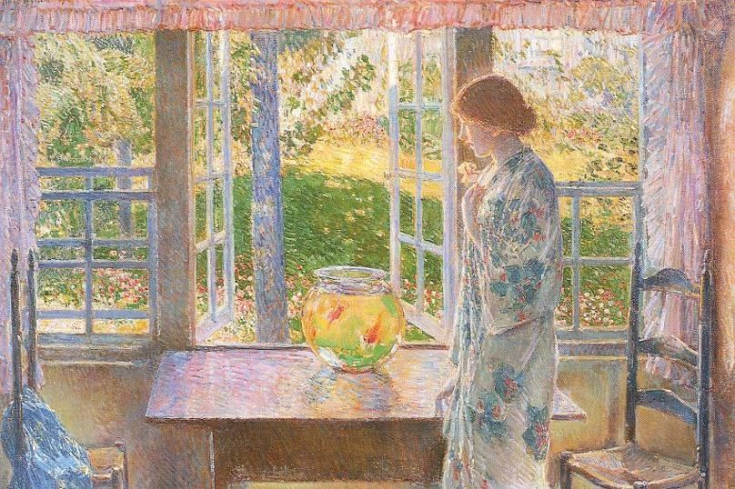 childe hassam The Goldfish Window